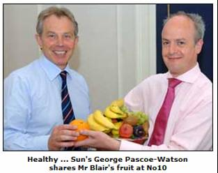 Tony Blair promoting personal health