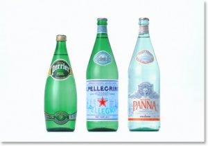 bottled water in glass is free of plasticizers